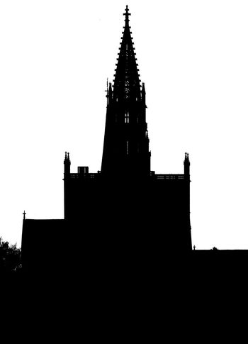 Silhouette Architecture Kunstwerk Bodensee Outdoors Built Structure History Sky Clock No People Münster, Konstanz Schattenbild Schatten♥ Sehenswürdigkeiten Abstract Black And White Friday Black And White Friday