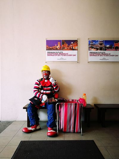 Full Length One Person Indoors  Multi Colored People Childhood Sitting Child Children Only Day Clown Adult Funny Creative Johor Premium Outlet Johor Bahru Johor One Man Only Portrait Work Time Clown Guy Make Up Colourful Uniform Malaysia Second Acts