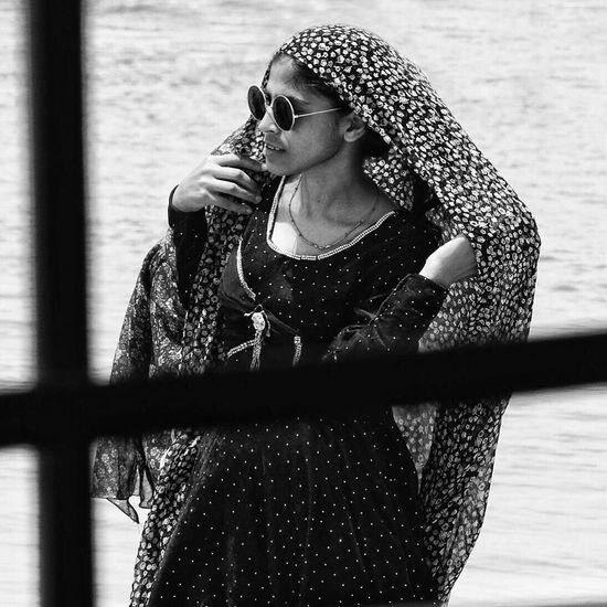 One Person Real People People Iran Gheshm Island Outdoors Women Mood Blackandwhite Documentary Wind