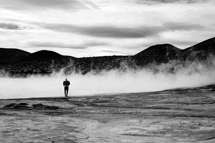 Chile Tranquil Scene Landscape Surire Beauty Of Nature First Eyeem Photo Tranquility No Man's Land Black & White Calm Silhouette EyeEm Eyem Best Shots