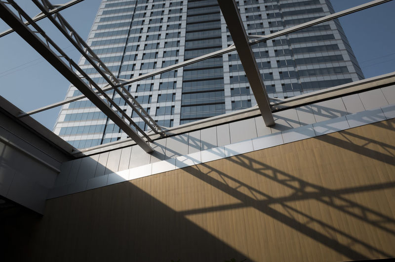 Built Structure Architecture Building Exterior Low Angle View Building Modern No People Day Office Building Exterior City Nature Office Sunlight Glass - Material Sky Outdoors Tall - High Pattern Shadow Skyscraper
