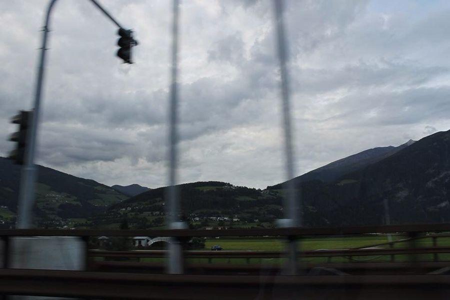 On The Move Austria Austria Mountains Canon Drivefast Rain Traveling Grunge
