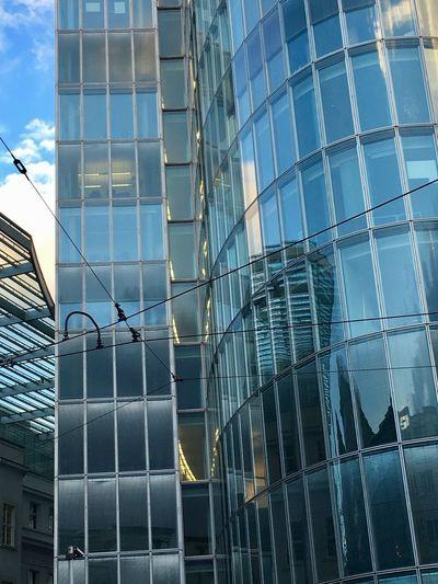 Reflexion. Clouds. Skyscraper. 33