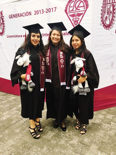 College besties ❤️ Graduation Class Of 2017 Donkey IPN Mexico International Bussines Friendship Celebration Party - Social Event Full Length Looking At Camera Girls Portrait Cute University Student Child Birthday Togetherness Group Of People Indoors  People Day Adult