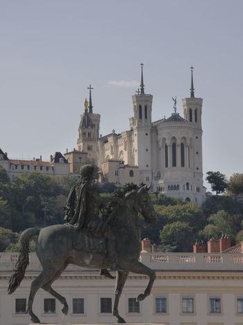 Fourvière  Lyon France Architecture Art And Craft Built Structure Carte Postale Destinationweddingphotographer History Horse Sculpture Statue Voyage