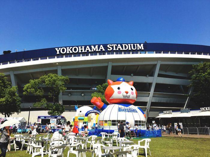 Enjoying Life Japan Photographer Skylovers 日本 Photography 風景 Yokohama IPhoneography 横浜 横浜ベイスターズ 今日は交流戦でdenaと楽天⚾️盛り上がっております。