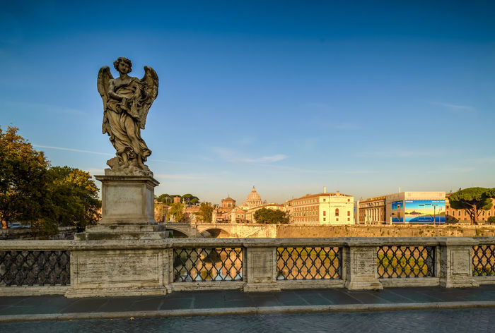 Ponte Sant'Angelo NiSi Filters Nikon Samsung Tree Vatican Angel Architecture Blue Sky Bridge - Man Made Structure Building Exterior Built Structure City Day Daylight Long Exposure No People Outdoors River Sculpture Sky Statue Travel Destinations Visit Italy Water Your Italy