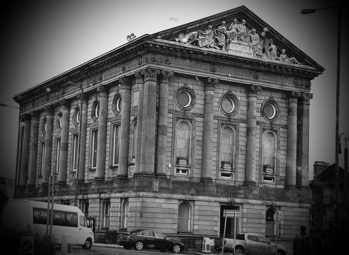 Todmorden town hall Blackandwhite Photography Black And White Built Structure Building Exterior Town Hall Architecture History Travel Destinations Façade Built Structure Building Exterior Ancient Low Angle View Day Outdoors Politics And Government