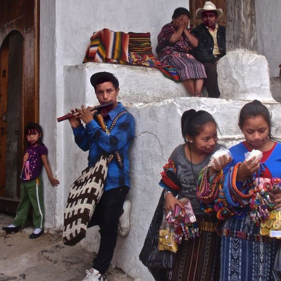 Guatemala Group Of People Females Childhood Males  Child Girls #urbanana: The Urban Playground Traditional Clothing Musical Instrument