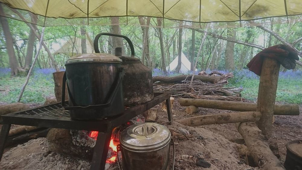 Brushcraft. Outdoors Close-up Working Work No People Fire Bushcraft Nature WoodLand Teaching Kettle Belltent Camping Flowers Indoors  Day Greenhouse Drink The Great Outdoors - 2017 EyeEm Awards