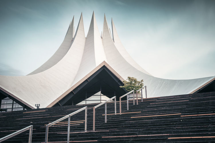 Tempodrom | Berlin, Germany 2016 Architecture Architecture_collection Art And Architecture Art And Culture Berlin City Berlin Landmarks Berlin Sightseeing City Congress Center Day Diminishing Perspective Europe Event Hall Germany Low Angle View Modern Modern Architecture Philipp Dase Sky Stairs Tempodrom Tempodrom Berlin Tranquility Urban Icon Visit Berlin