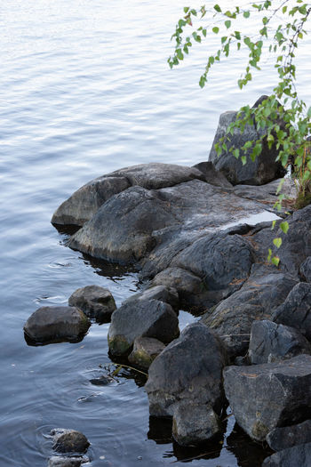 Beach Beauty In Nature Day Flowing Water Land Motion Nature No People Non-urban Scene Outdoors Plant Rock Rock - Object Scenics - Nature Sea Solid Stone Tranquility Water