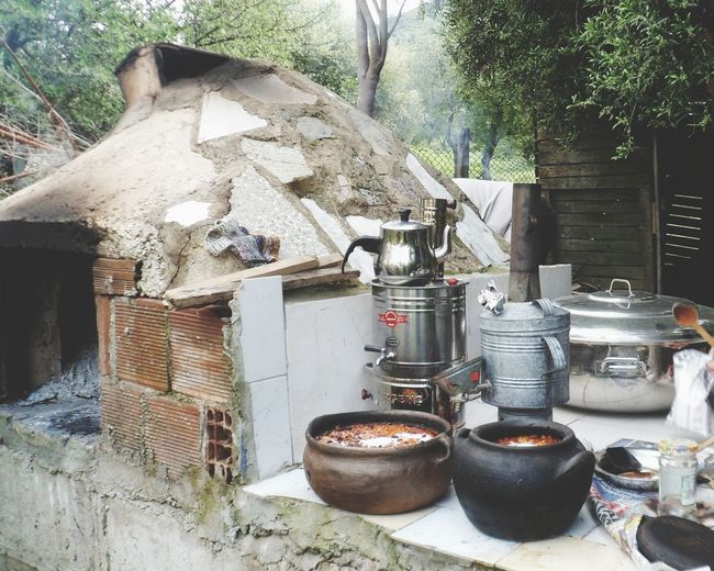 Traditional Authentic Outdoor Kitchen Prepared Food Utensil
