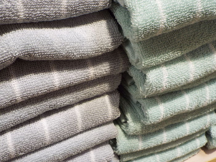 Full frame shot of stacked towels