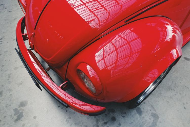 Red Car Vintage Vintage Cars Old-fashioned Mode Of Transportation Transportation Close-up Metal Wheel Old Beautiful High Angle View Motor Vehicle Daylight Day No People Urban Geometry Lifestyles Indoors  Colors City Vehicle Part Luxury Detail