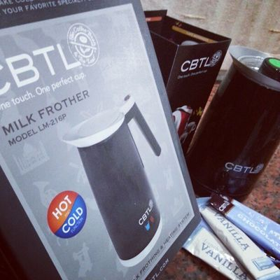 Milk Frother? Check! CBTL Brunei InstaBruDroid Andrography LoveFoodHateWaste