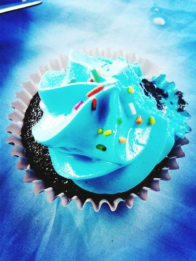 Just one bite Cupcake Cupcakelovers Blue Color