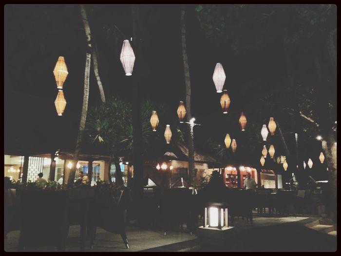 Night Lights Walking Around Bali Throwback