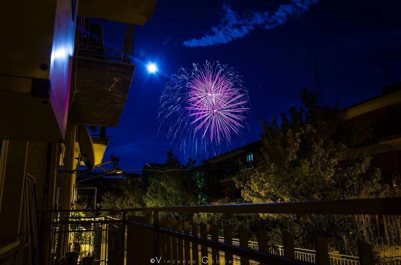 Fireworks Night Landscape Lights