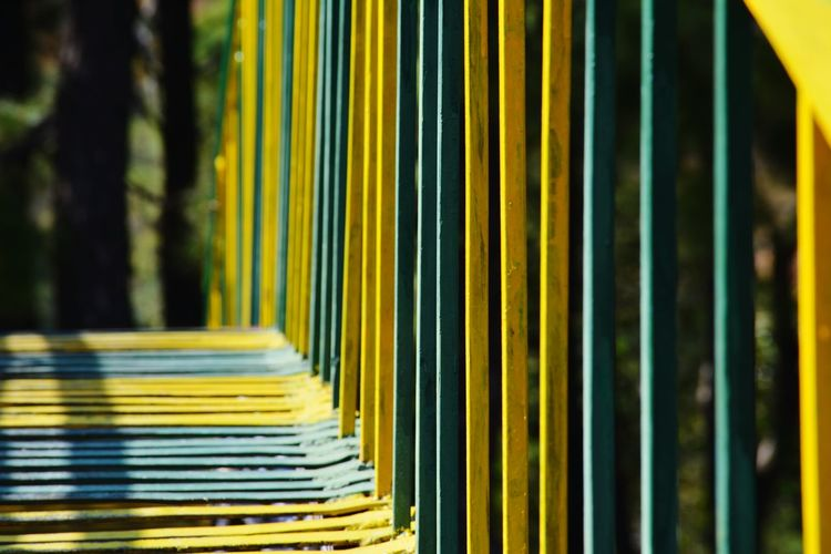 Close up of multi colored bars