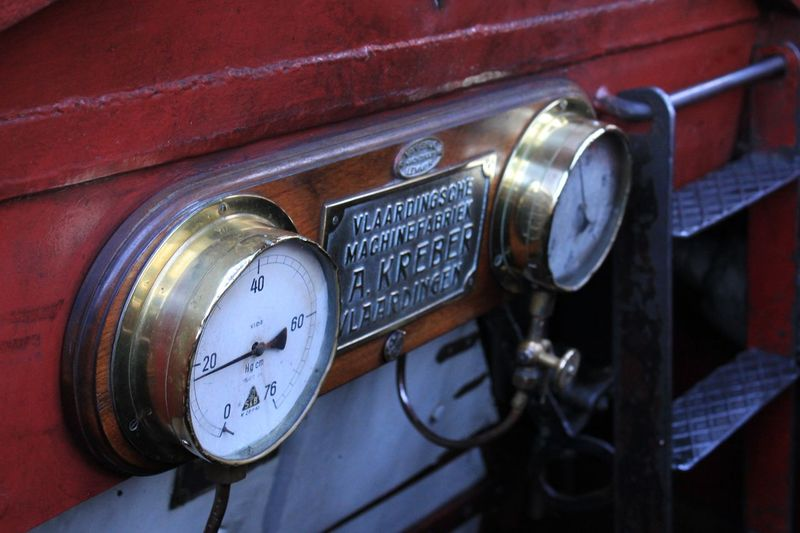Boat gauges Old-fashioned Communication Retro Styled Close-up Number Technology Text Antique