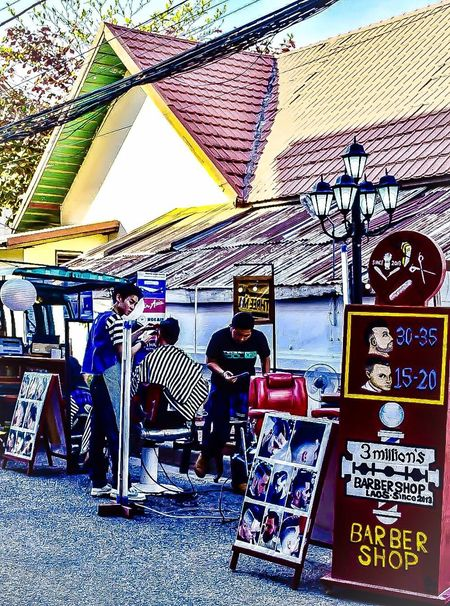 Real People Lifestyles Outdoors Men Nikon Instagram 500px Urbanphotography Cityscape ASIA Barbershop Busisness Haircut Funny