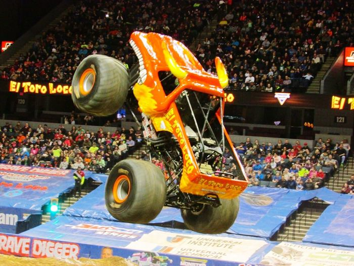 Truck Monster Trucks Action Action Shot  Jump Jumping In The Air Event Crowd People Michigan United States