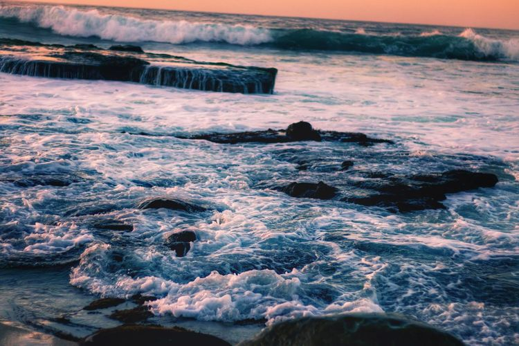 High Tide Shades Of Winter SoCal San Diego PNW Golden Hour Sea Landscape Nature Scenics Beach Beauty In Nature Outdoors Awe Water Winter No People Sunset Wave Travel Destinations Cold Temperature Visual Creativity
