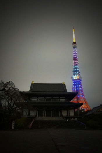 2013 2020 City Illuminated Night Olympic Outdoors Rainbow Rainbow Colors Sky Tokyo Olympic Tokyo Tower Tower オリンピック 増上寺 東京オリンピック 東京タワー