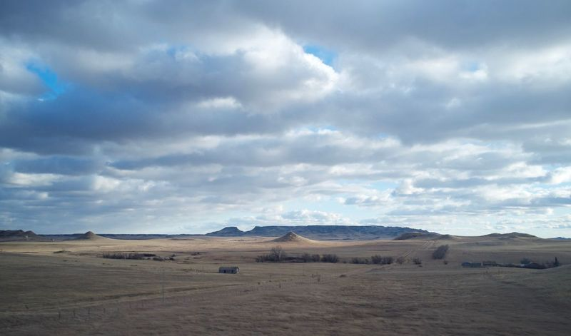 2-7-16 Arid Climate Cloud Cloud - Sky Cloudy Copy Space Exploring Field Geology Horizon Over Land Landscape MidWest Nature No People Non-urban Scene North Dakota Outdoors Perspective Physical Geography Remote Scenics Sky Tranquil Scene Tranquility Western North Dakota