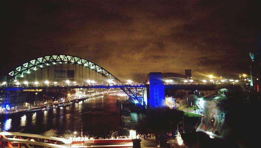 Newyeareve Newcastle Upon Tyne City Lights Hello World
