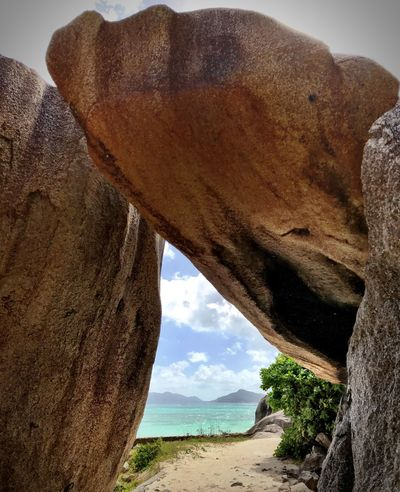 Rock Formation Nature Rock - Object Geology Day Beauty In Nature Scenics Sky Tranquil Scene Physical Geography Landscape Tranquility Tree No People Cliff Sand Outdoors Arid Climate Shotoniphone7 Seychelles Anse Source D'argent Amazing Nature Amazing Place