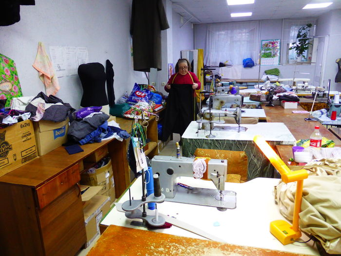 People working in shop