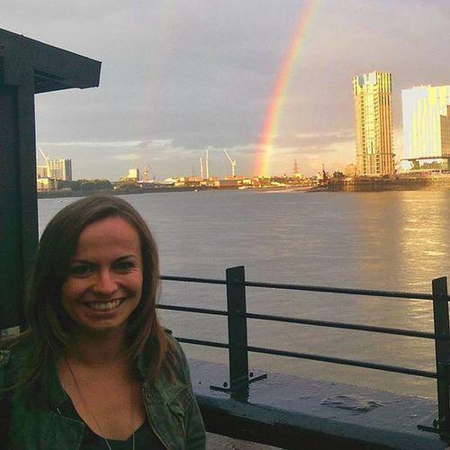 Lovely evening with @j.deeeeee London Rainbow Rain Thamesriver Mobilephotography Snapsheed