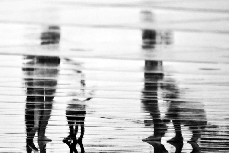 Kids Reflection Blackandwhite Childhood Dog Game Outdoors People Streetphotography Water EyeEmNewHere