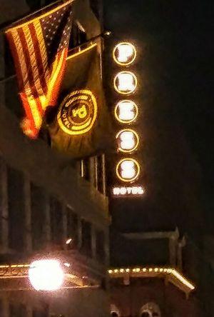 Press Hotel.(was the Portland PressHerald newspaper building) Illuminated Night No People Flags Building Historical Building Mycitylove Lights EyeEmNewHere