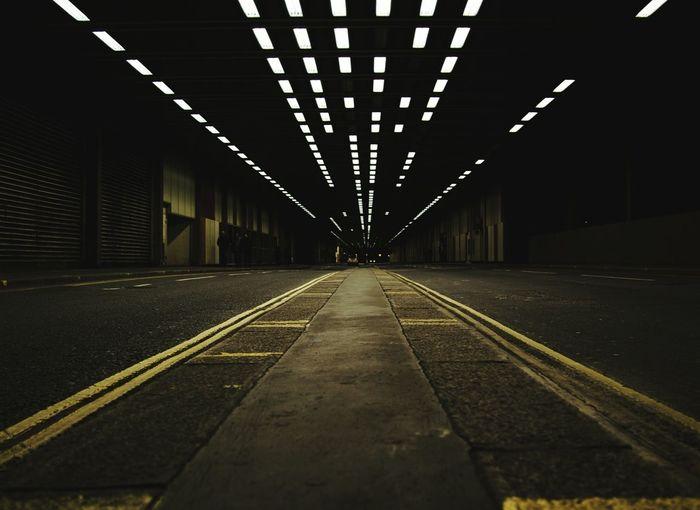 View of underground road
