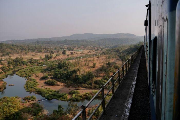 Konkan Railway Train Railway Traveling Konkanrailway India EyeEm Selects Transportation Landscape No People Outdoors Tree Sky Nature Summer Exploratorium The Traveler - 2018 EyeEm Awards