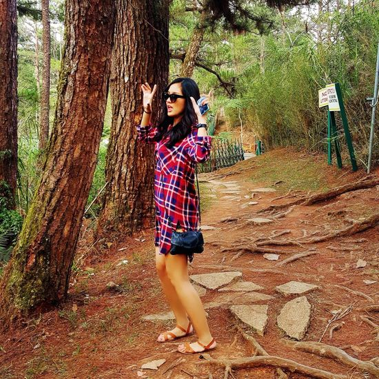 Girl Baguio Candid Forest Wacky Holy Week Trail