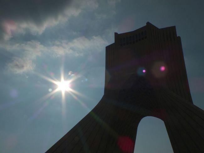 Azadi Square Azadi Tower In Tehran Sun Flare