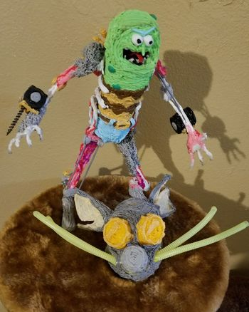 Pickle Rick Pickle Art And Craft Close-up Toys 3D Pen Arts Culture And Entertainment Custom One Off Rick & Morty 3d Pen Art For Sale 250 $ Short Shorts Metrosexual Pickle Pickle Rick Rat Suit Exoskeleton