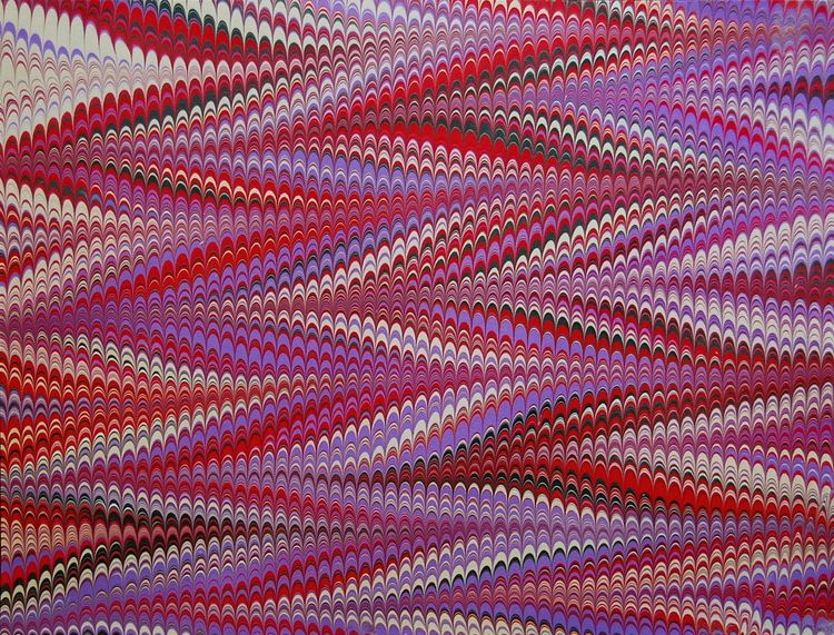 Chevron Marbled Paper Marbling Abstract Purple Red Background Unique Pattern Ebru Colorful Bright Wavy Rippled Ripples Nonpareil