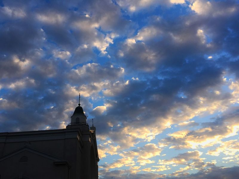 The Street Photographer - 2016 EyeEm Awards Church Neighborhood Sky Morning Sunrise Santa Monica California Clouds Puffy Blue God
