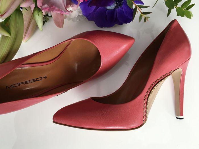 Www.moreschi.pl Shoe High Heels Flower Indoors  No People Fashion