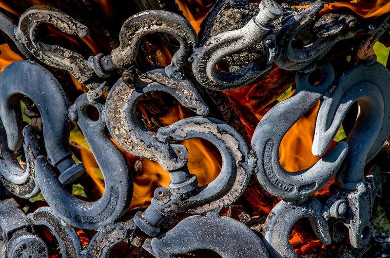 Full frame shot of patterned chain