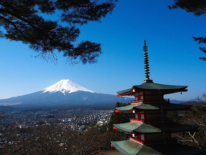 My day here in JapanTravel Destinations Landscape 富士山 日本2017年 Chureito-pagoda Mountain