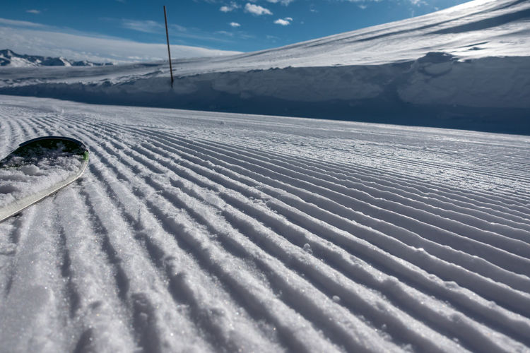 Snow Winter Cold Temperature Scenics - Nature Mountain Nature White Color Beauty In Nature No People Day Field Covering Environment Landscape Sky Land Transportation Ski Track Tranquil Scene Outdoors Snowcapped Mountain Powder Snow