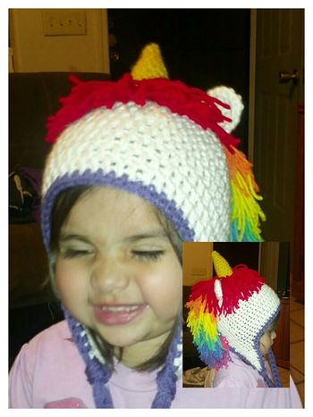 Crochet My Daughter Unicorn Beanie she loves it!