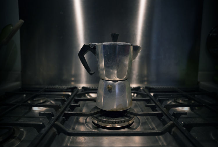 Close-up of coffee pot