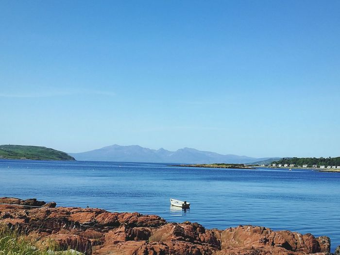 Sea No People Sunny Scenics Nature Outdoors Beauty In Nature Blue Landscape HuaweiP9 Huaweiphotography Mobilephotography Huawei IMography Coastline Travel Destinations Millport Scotland